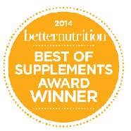 2014 Better Nutrition Best of Supplements Award